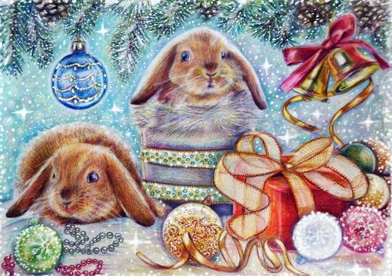 Christmas rabbits toys 452276