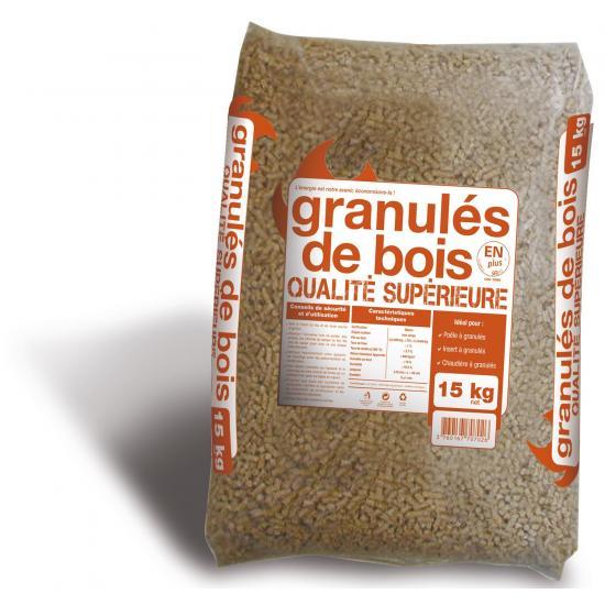 Granules de bois en sac 15 kg